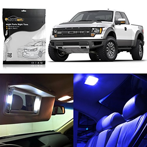 Partsam 2004-2014 Ford F-150 Blue Interior LED Lights Package (Interior Package)