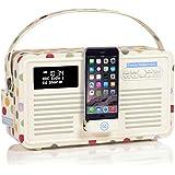 VQ Retro Mk II DAB & DAB+ Digital Radio with FM, Bluetooth, Apple Lightning Dock & Alarm Clock – Emma Bridgewater Polka Dot