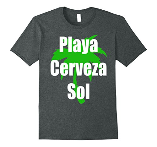 Amazon.com: Playa Cerveza Sol T-Shirt Camiseta Beach Bear Sun in Spanish: Clothing