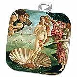 3dRose InspirationzStore Vintage Art - Botichelli The Birth of Venus 1485 famous classic art by Italian masters Ocean Sea shell masterpiece - 8x8 Potholder (phl_162552_1)
