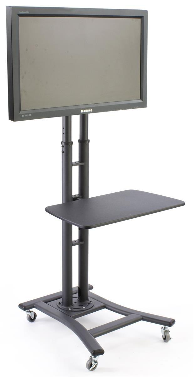 Amazon Com Displays2go Mobile Tv Stand With Adjustable Shelf Fits