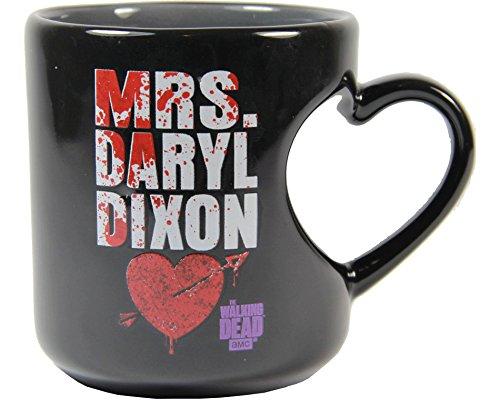 The Walking Dead Mrs  Daryl Dixon 12 Oz Heart Mug