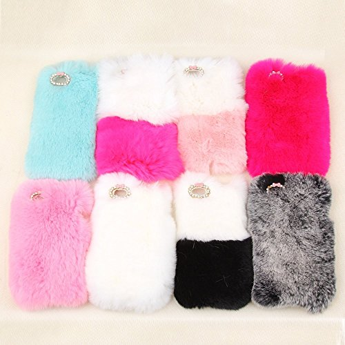 sale retailer f5c74 b8ccb iPhone 7 Plus 5.5 Inch Soft Furry Hair Case-Auroralove Black iPhone 7 3D  Cute Fashionable furry Handmade Comfortable Warm Fur Case with Bling Shiny  ...