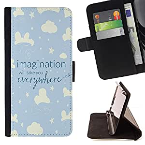Jordan Colourful Shop - sky night kid blue stars clouds For Apple Iphone 6 - Leather Case Absorci???¡¯???€????€?????????&