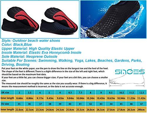 Rápido Descalzos Negro Deportivos N81 Calzado Hombre Aqua Yoga Secado Calcetines De Pareja Deportes Sinoes Mujer Para Acuáticos Zapatos Ocio Aire Agua Libre Azul Playa w61xqUBI