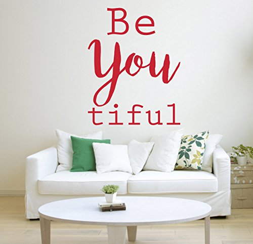 be-you-tiful-quote-vinyl-wall-art-sticker-mural-decal-home-wall-decor-bedroom-bathroom-dressing-room