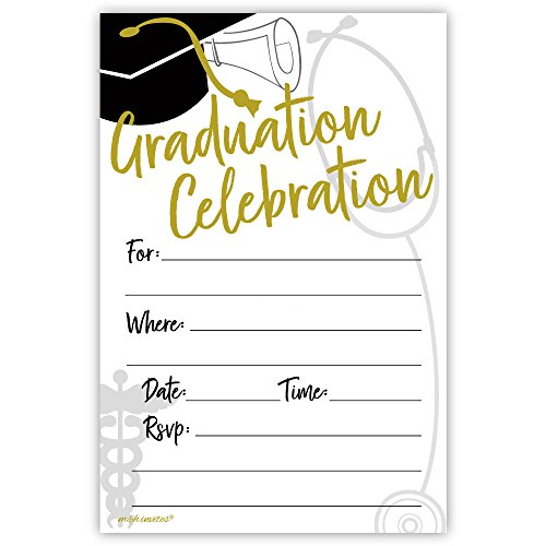 - Medical or Nursing School Graduation Invitations (20 Count) With Envelopes