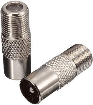 Adaptador de cable coaxial para antena de TV, conector tipo F, adaptador de satélite tipo F, conector de tornillo a RF coaxial macho adaptador ...