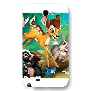 Customized White Frosted Disney Cartoon Movie Bambi Samsung Galaxy Note 2 Case WANGJING JINDA
