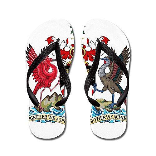 CafePress Trinidad and Tobago Coat Of Arms - Flip Flops, Funny Thong Sandals, Beach Sandals Black
