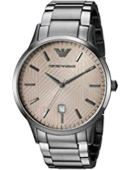 Emporio Armani Mens Dress Quartz Stainless Steel Casual Watch, Color Grey (Model: AR11120)