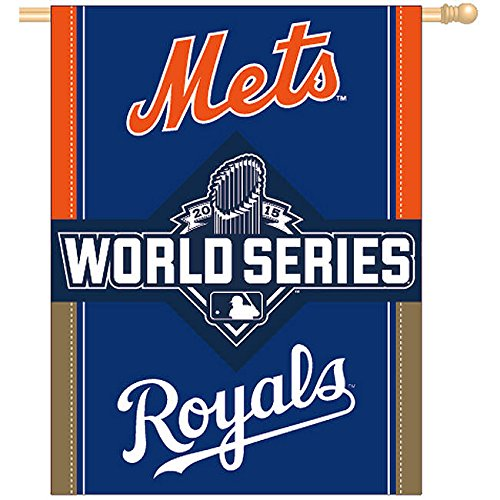 NY Mets vs. KC Royals 2015 World Series Banner