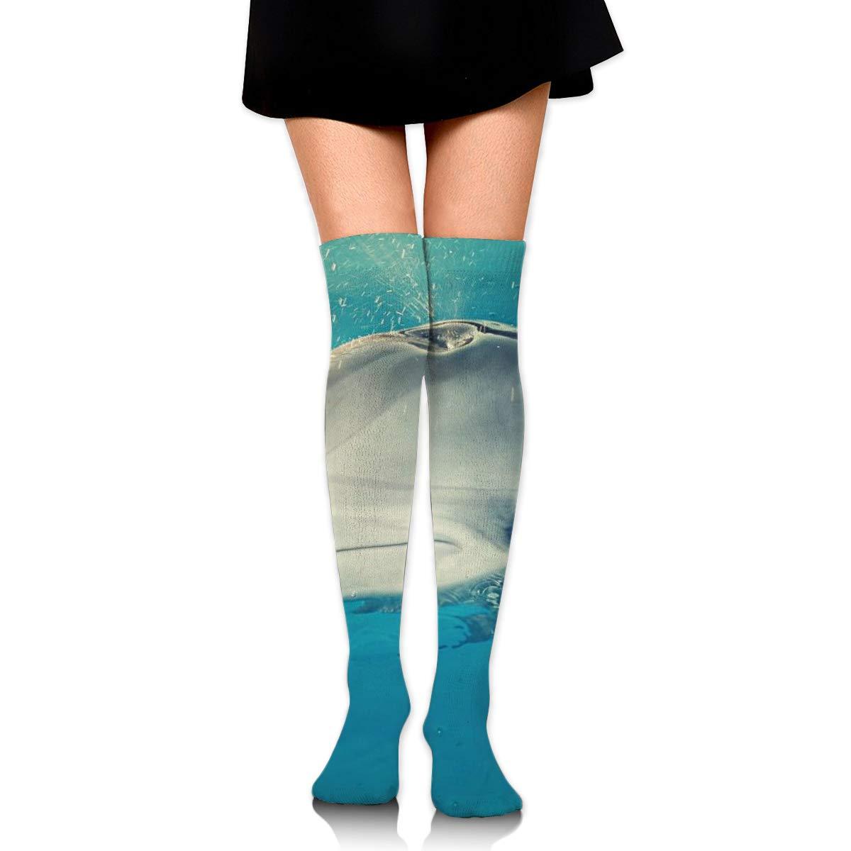 Kjaoi Girl Skirt Socks Uniform Sea Dolphin Women Tube Socks Compression Socks
