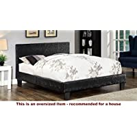 247SHOPATHOME IDF-7793BK-CK Platform-Beds, California King, Black