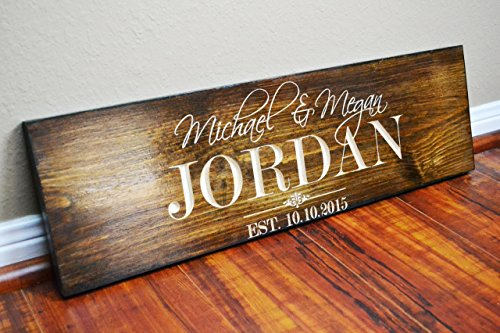 - FAST SHIPPING Personalized Family Name Sign Wedding Gift Custom Carved Wooden Signs Last Name Décor Established Wood Plaque Engraved .sign#233