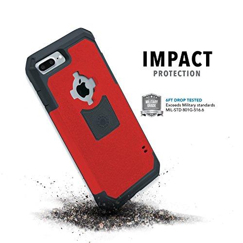 Rokform V3 Sport Schutzhülle für Apple iPhone 7 Plus mit Magnetic Auto-Halterung rot