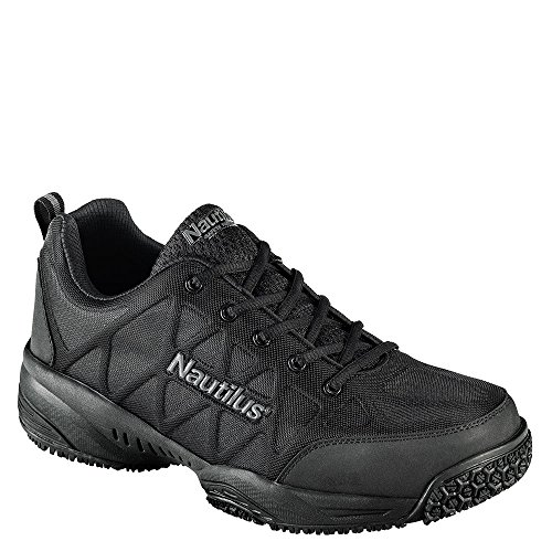 Nautilus Men's Composite Toe IC Athletic Sneakers, Black Nylon, Leather, 7 ()