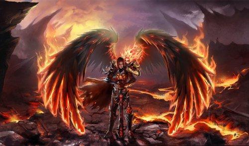 Fantasy Demon wings Knight Playmat ()