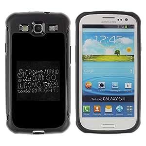 """Pulsar iFace Series Tpu silicona Carcasa Funda Case para Samsung Galaxy S3 III I9300 , Pizarra Negro motivación inspiradora Cita"""""""