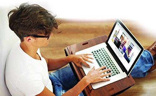 iCozy Portable Cushion Lap Desk With Storage - Zebra by iCozy (Image #6)