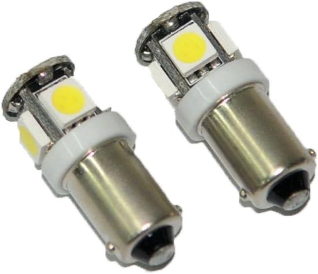 BoomBoost10 pcs 5SMD 5050 LED T11 BA9S White T4W 182 1445 H6W 53 Car Wedge Light Car Indicators Bulb Light Wedge Lamp