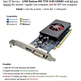 Epic IT Service - AMD radeon HD 7570 1GB 1024MB GDDR5 low profile video card with display port and DVI for normal / full size computer