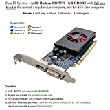 7750 hd low profile - Epic IT Service - AMD radeon HD 7570 1GB 1024MB GDDR5 low profile video card with display port and DVI for normal / full size computer