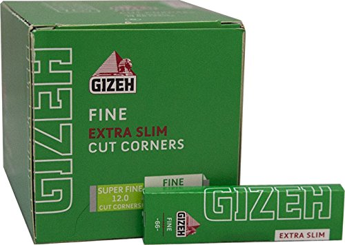 Gizeh Green Cigarette Rolling Papers - Fine - Extra Slim - Full Box (50 Booklets) -