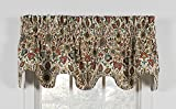 Ellis Curtain Adelle Medallion Lined Scallop Valance 70-Inch-by-17-Inch, Multi For Sale