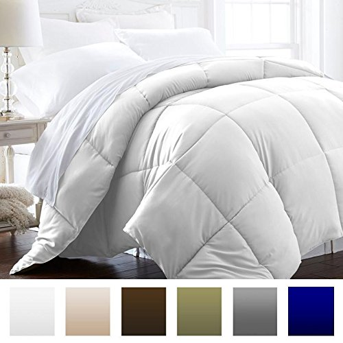 Beckham Hotel gallery 1600 Series - light - Luxury Goose off different Comforter - Hotel superior quality Comforter and Hypoallergenic - Twin/Twin XL - Pure White Black Friday & Cyber Monday 2018