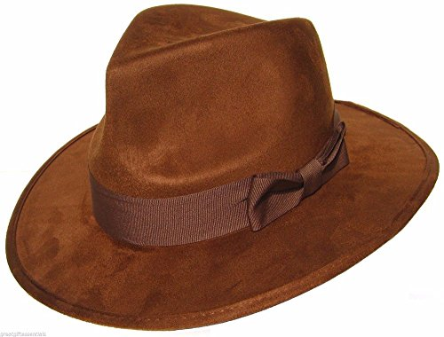 DOCTOR WHO HAT Fourth 4th Dr Fedora Brown Jones Tom Baker Costume BBC LICENSED -