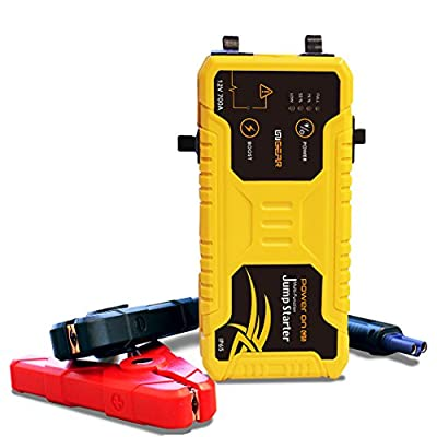 UNIGEAR Robust Power Jump Starter PowerOn Q5 Peak 600A 12V 15000mAh Gasoline & Diesel 7.0L Engine Portable Power Bank Complete Smart Protection with Premium Package