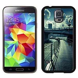 NEW Unique Custom Designed Samsung Galaxy S5 I9600 G900a G900v G900p G900t G900w Phone Case With Water Bridge Street View Lockscreen_Black Phone Case wangjiang maoyi
