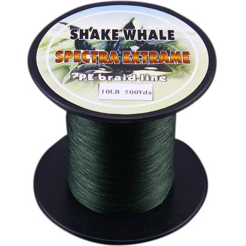 『4年保証』 Shake 500ydsヤード Whale 100-percent PE PE Shake Good品質Briad編組釣りライングリーン10lb 500ydsヤード B00EPQVZAE, バイセルオンライン:d11b30d2 --- a0267596.xsph.ru