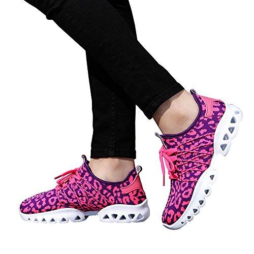 Unisex Paar Atletische Sportschoenen Ademende Mesh-running Mode Sneakers Rose Rood