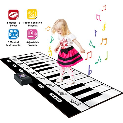 SGILE Big 71X29 Inch Piano Dance Mat Playmat Toy