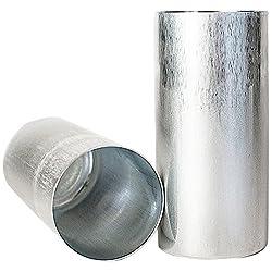 Candlewic 50216 2Pk of 3 X 6.5 Inch Round Aluminum