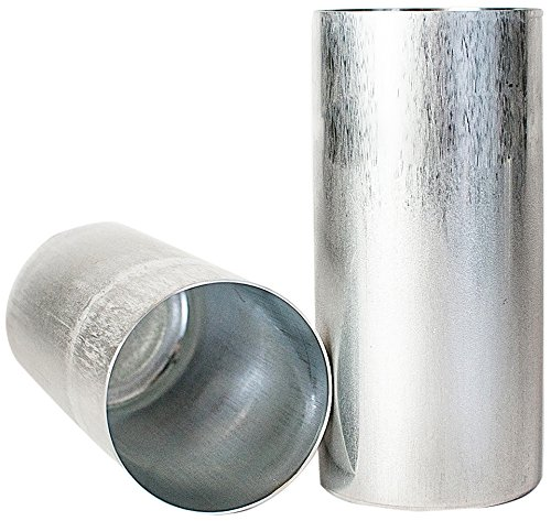 Making Mold Candle - Candlewic 50216 2Pk of 3 X 6.5 Inch Round Aluminum One Piece Candle Molds