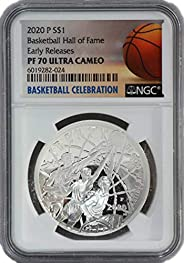 2020 P Commemorative Basketball Hall of Fame Dollar PF-70 NGC Ultra Cameo Early Releases