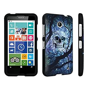 DuroCase ? Nokia Lumia 630 Hard Case Black - (Black Skull Space Black Tree)