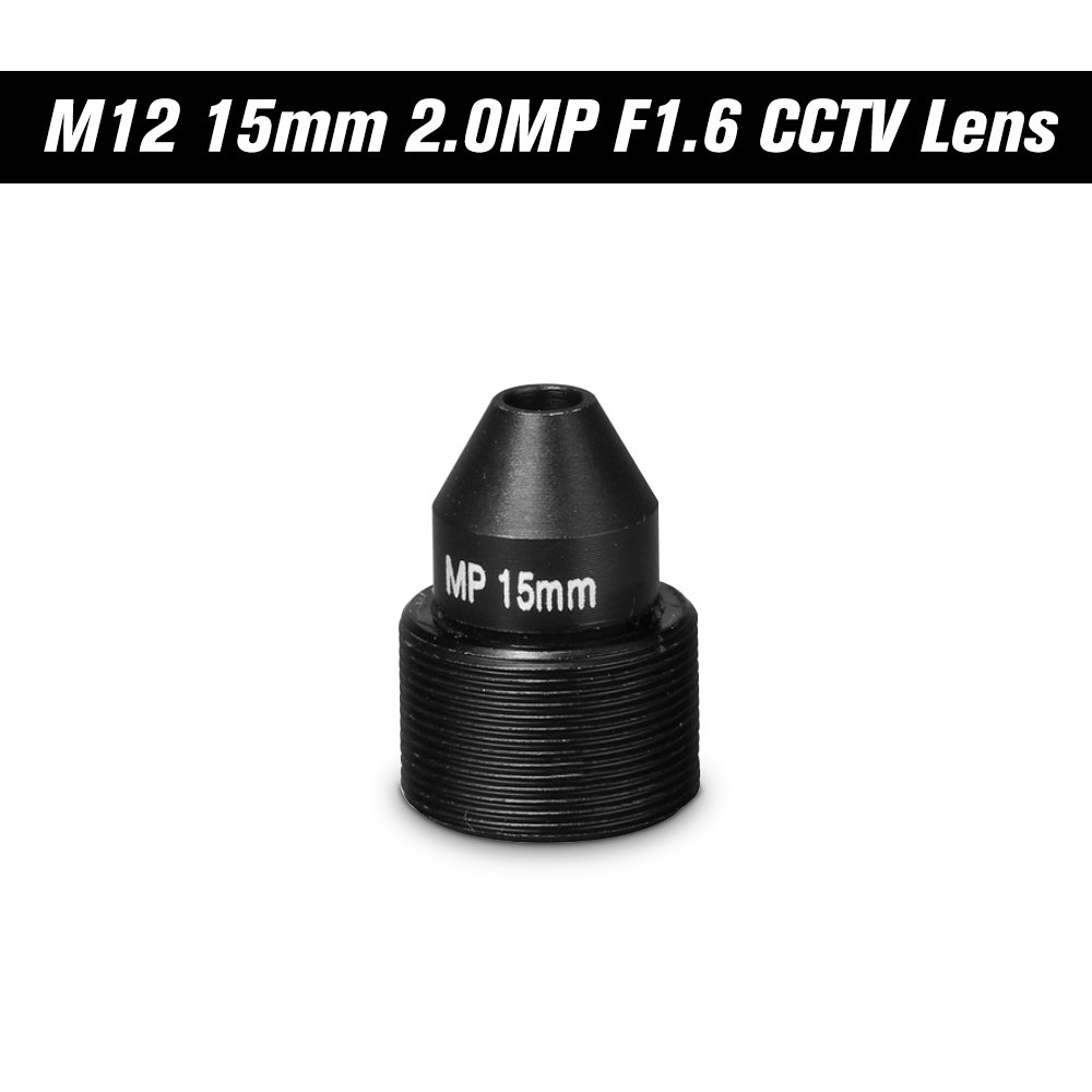 OWSOO HD 2.0 Megapixel Pinhole Lens M12 CCTV MTV Board 15mm Lens 1/2.7'' Aperture F1.6 28.3 Degree for Security Cameras