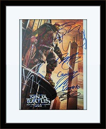 Framed Teenage Mutant Ninja Turtles Cast Authentic Autograph ...