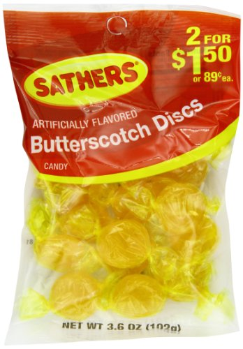 Farley's & Sathers Candy, Butterscotch Discs, 3.6 Ounce, Pack of 12
