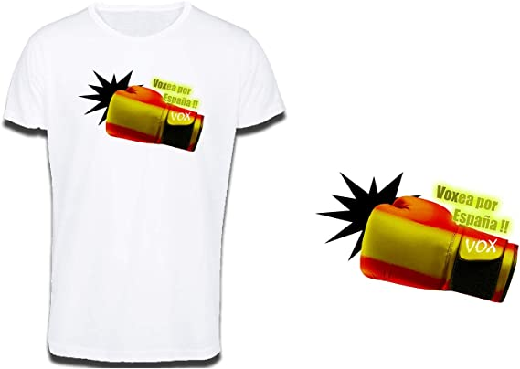 MERCHANDMANIA Camiseta Tacto ALGODÓN VOXEA por ESPAÑA Cotton Touch Tshirt: Amazon.es: Ropa y accesorios