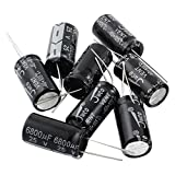 Uxcell a14101600ux0926 10 Piece 16 mm x 30 mm 6800UF 25V Polarized Radial Electrolytic Capacitor