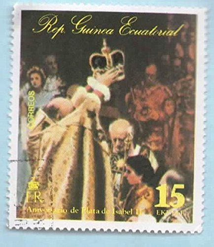 Equatorial Guinea Postage Stamp (Used) 25 Years of Queen Elizabeth II (1977)