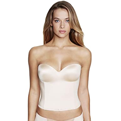 9e6ccad310 Image Unavailable. Image not available for. Color  Dominique Molded Seamless  Longline Bridal Bustier Style ...