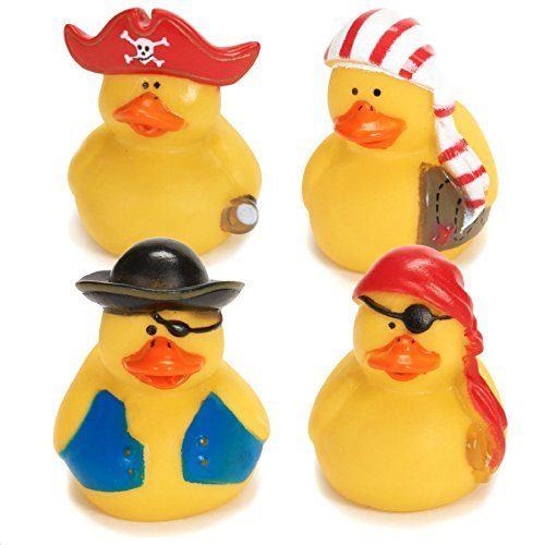 Lot Of 24 Pirate Rubber Ducks - Party Favor Duckys Gifts - Cake Toppers - Pirate Rubber Ducks