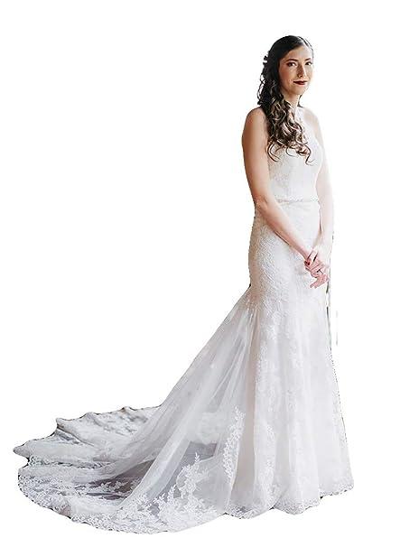 Amazon.com: Fenghuavip Sweetheart - Vestido de novia con ...