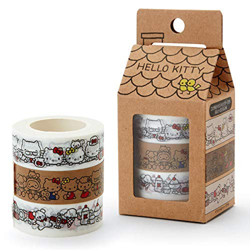 (Sanrio JP Hello Kitty 3-pc Set Classic Edition Masking Deco Tape Japan Touch Collection)